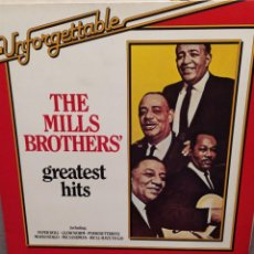 Discos de vinilo: THE MILLS BROTHERS' , GREATEST HITS UNFORGETTABLE ED HOLANDA. Lote 223379238