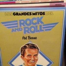 Discos de vinilo: LOTE 2 DISCOS LOS GRANDES MITOS DEL ROCK AND ROLL: DEL SHANNON, PAT BOONE. Lote 223400503