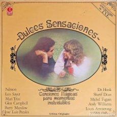 Discos de vinilo: DULCES SENSACIONES: VARIOS ARTISTAS - 1980 - ROCK, POP, FOLK, WORLD, & COUNTRY. Lote 223410467