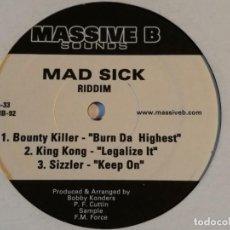 Discos de vinilo: VARIOUS - MAD SICK RIDDIM - 2004. Lote 223412261