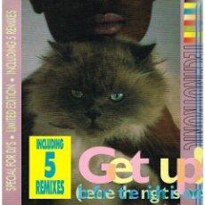 Discos de vinilo: TECHNOTRONIC - GET UP! (BEFORE THE NIGHTS OVER) (5 VERSIONES) - MAXI SINGLE 1990. Lote 288517368