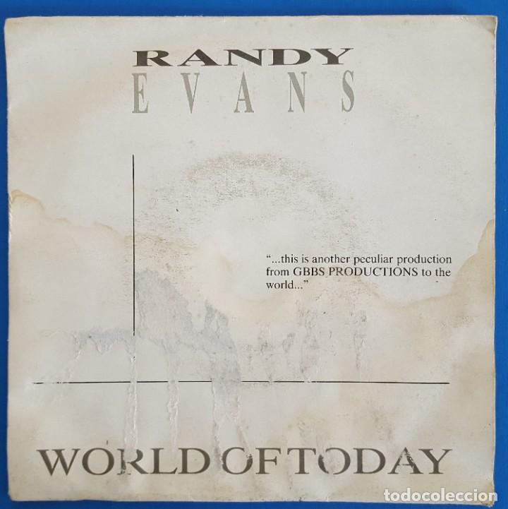 SINGLE / RANDY EVANS / WORLD OF TODAY /G.B.B.S. RECORDS R-3-001 / 1987 PROMO (Música - Discos de Vinilo - Singles - Pop - Rock Internacional de los 80)