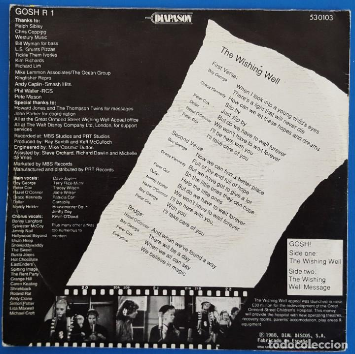 Discos de vinilo: SINGLE / G.O.S.H. / THE WISHING WELL / DIAPASON GOSH R 1 - 53 0103 / 1988 - Foto 2 - 223433723