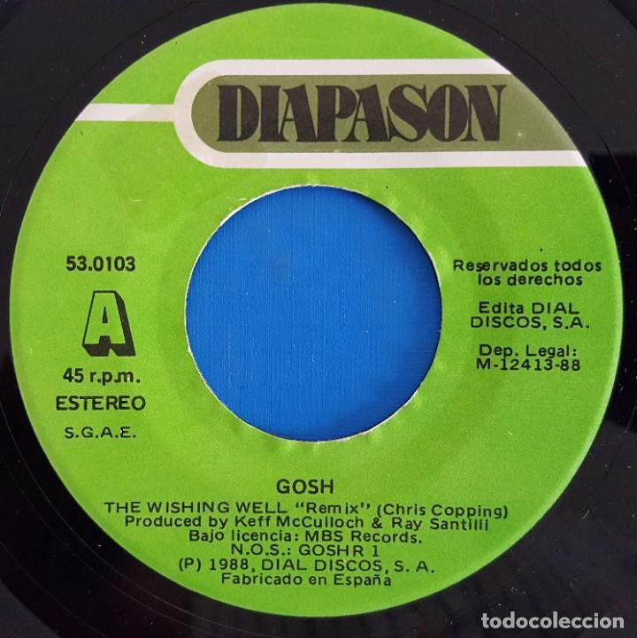 Discos de vinilo: SINGLE / G.O.S.H. / THE WISHING WELL / DIAPASON GOSH R 1 - 53 0103 / 1988 - Foto 3 - 223433723