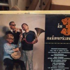 Discos de vinilo: LOS 3 SUDAMERICANOS: GUANTANAMERA , CHICA IPANEMA , CIAO AMORE DE LUIGI TENCO, + 9. Lote 223454396