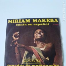 Dischi in vinile: MIRIAM MAKEBA CANTA EN ESPAÑOL TONADAS DE MEDIANOCHE / OXGAM ( 1968 RCA VICTOR ESPAÑA ). Lote 223458458
