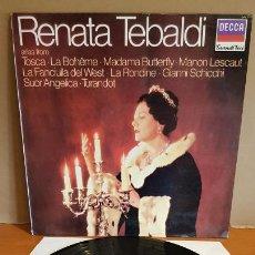 Disques de vinyle: RENATA TEBALDI / ARIAS / ORQ. STA. CECILIA / LP - DECCA-GRANDI VOCI-1983 / MBC. ***/***. Lote 223463973