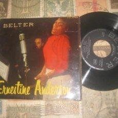 Discos de vinilo: ERNESTINE ANDERSON - MY MAN + 3 (EP DE 4 CANCIONES)( BELTER 195?) OG ESPAÑA. Lote 223464051