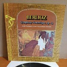 Discos de vinilo: BERLIOZ / ANDRE VANDERNOOT / SYMPHONY FANTASTIQUE, OP.14 / LP - SINE QUA NON-USA / MBC. ***/***. Lote 223466387