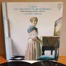 Discos de vinilo: J.S.BACH / LOS CONCIERTOS DE BRANDEBURGO / CLAUDIO ABBADO / DOBLE LP-GATEFOLD-CBS / MBC. ***/***. Lote 223485842