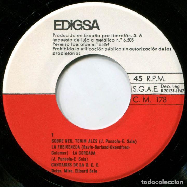 Discos de vinilo: Cantaires de la U.E.C. Unió de Excursionistas de Catalunya - La Cordada - Ep Spain 1967 - Edigsa - Foto 3 - 223510477
