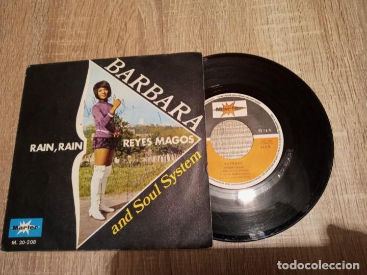 BARBARA AND SOUL SYSTEM.1971.FIRMADO POR LA CANTANTE .RAIN. RAIN Y REYES MAGOS. (Música - Discos de Vinilo - EPs - Funk, Soul y Black Music)