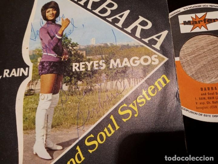 Discos de vinilo: BARBARA AND SOUL SYSTEM.1971.FIRMADO POR LA CANTANTE .RAIN. RAIN Y REYES MAGOS. - Foto 2 - 223513306