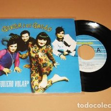 Discos de vinilo: GRETA Y LOS GARBO - QUIERO VOLAR - SINGLE - 1992. Lote 223516923
