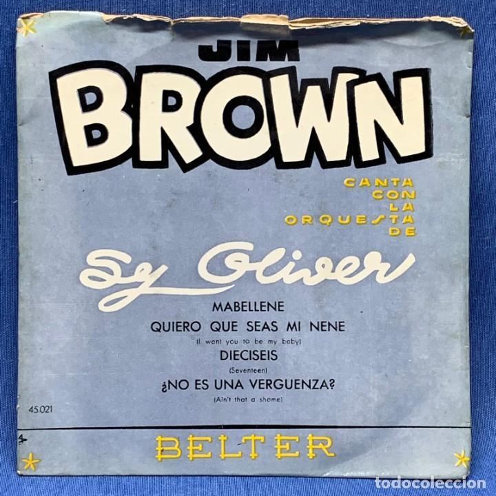 EP JIM BROWN CON SY OLIVER Y SU ORQUESTA - BELTER - ESPAÑA - AÑO 1956 (Música - Discos de Vinilo - EPs - Rock & Roll)