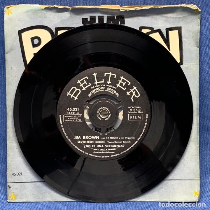 Discos de vinilo: EP JIM BROWN CON SY OLIVER Y SU ORQUESTA - BELTER - ESPAÑA - AÑO 1956 - Foto 3 - 223519218