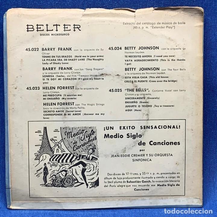 Discos de vinilo: EP JIM BROWN CON SY OLIVER Y SU ORQUESTA - BELTER - ESPAÑA - AÑO 1956 - Foto 4 - 223519218