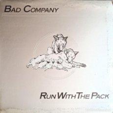Discos de vinilo: BAD COMPANY: RUN WITH THE PACK - DISCO VINILO LP 33RPM - 1976 - ROCK, HARD ROCK. Lote 223520252