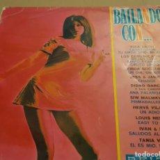 Discos de vinilo: VVAA - BAILANDO CON... ********* RARO LP BELTER PORTADA PSICODÉLICA TANIA VELIA 1969. Lote 223522455