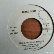 Dischi in vinile: CAMILO SESTO - FRESA SALVAJE ******* RARO SINGLE PROMOCIONAL DE UNA CARA!. Lote 223527492