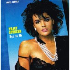 Dischi in vinile: TRACY SPENCER - RUN TO ME / MA MA RUN - MAXI SINGLE 1986. Lote 223529400