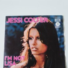 Dischi in vinile: JESSI COLTER I'M NOT LISA NO SOY LISA / FOR THE FIRST TIME (1975 EMI CAPITOL ESPAÑA) WAYLON JENNINGS. Lote 223544727