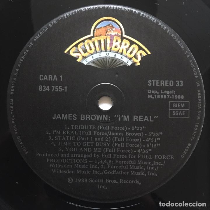 Discos de vinilo: JAMES BROWN IM REAL LP EDIC ESPAÑA MUY BIEN CONSERVADO - Foto 3 - 223554573