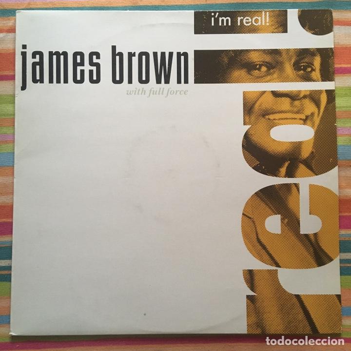 JAMES BROWN I'M REAL LP EDIC ESPAÑA MUY BIEN CONSERVADO (Música - Discos - LP Vinilo - Funk, Soul y Black Music)