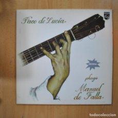 Dischi in vinile: PACO DE LUCIA - PLAYS MANUEL DE FALLA - LP. Lote 223555943