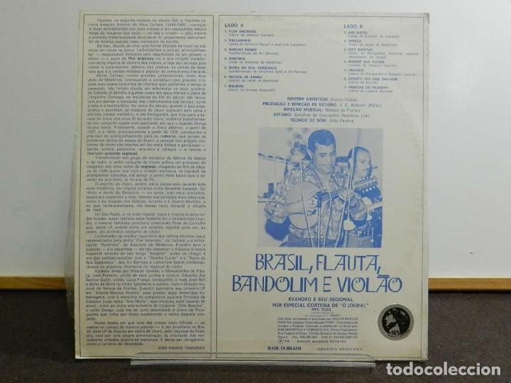 Discos de vinilo: DISCO VINILO LP. EVANDRO E SEU REGIONAL - BRASIL, FLAUTA, BANDOLIM E VIOLÃO. EDICIÓN BRASIL. 33 RPM. - Foto 2 - 223560330