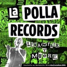 Discos de vinil: LA POLLA RECORDS -LEVANTATE Y MUERE -2 LP + DVD-. Lote 223577092