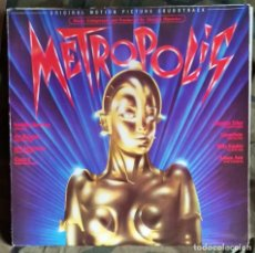 Dischi in vinile: METROPOLIS LP, GATEFOLD SPAIN 1984 CON GIORGIO MORODER,FREDDIE MERCURY,PAT BENATAR,ETC. Lote 223580196