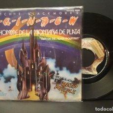 Discos de vinilo: RAINBOW - RITCHIE BLACKMOORE'S EL HOMBRE DE LA MONTAÑA DE… SINGLE SPAIN 1975 PDELUXE. Lote 223615248