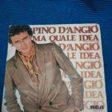 """Discos de vinilo: SINGLE PINO D'ANGIO """"MA QUALE IDEA"""". Lote 223636456"""