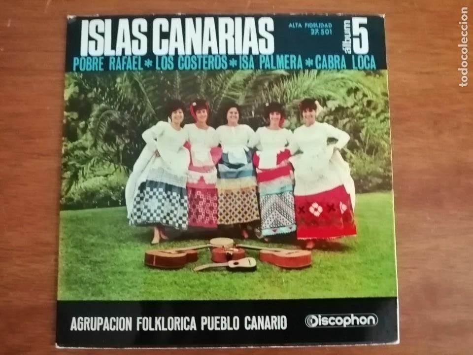 ISLAS CANARIAS AGRUPACIÓN FOLKLORICA PUEBLO CANARIO ÁLBUM 5 (Música - Discos - Singles Vinilo - Otros estilos)
