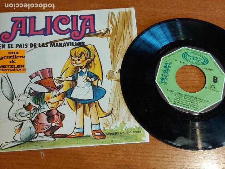 CUENTO-DISCO / ALICIA EN EL PAIS DE LAS MARAVILLAS / SINGLE-MOVIE PLAY-1972 / DE LUJO. ****/**** (Música - Discos - Singles Vinilo - Música Infantil)