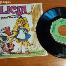 Discos de vinilo: CUENTO-DISCO / ALICIA EN EL PAIS DE LAS MARAVILLAS / SINGLE-MOVIE PLAY-1972 / DE LUJO. ****/****. Lote 223694055