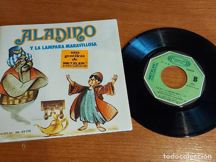 CUENTO-DISCO / ALADINO Y LA LÁMPARA MARAVILLOSA / SINGLE-MOVIE PLAY-1972 / DE LUJO. ****/**** (Música - Discos - Singles Vinilo - Música Infantil)