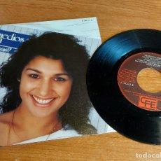 Discos de vinilo: REMEDIOS AMAYA / DONDE VAS ? / SINGLE - CFE-1984 / CALIDAD LUJO. ****/****. Lote 223695708