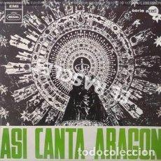 Discos de vinilo: LP - ASI CANTA ARAGON -. Lote 223715460