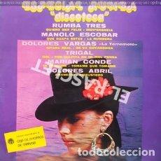 Discos de vinilo: LP - ESPECIAL RUMBA - DISCOTECA - RUMBA TRES - MANOLO ESCOBAR -. Lote 223716540
