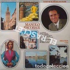 Discos de vinilo: LP - SEVILLANAS - MANOLO ESCOBAR -. Lote 223717462