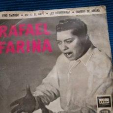 Discos de vinilo: SINGLE RAFAEL FARINA. Lote 223723227