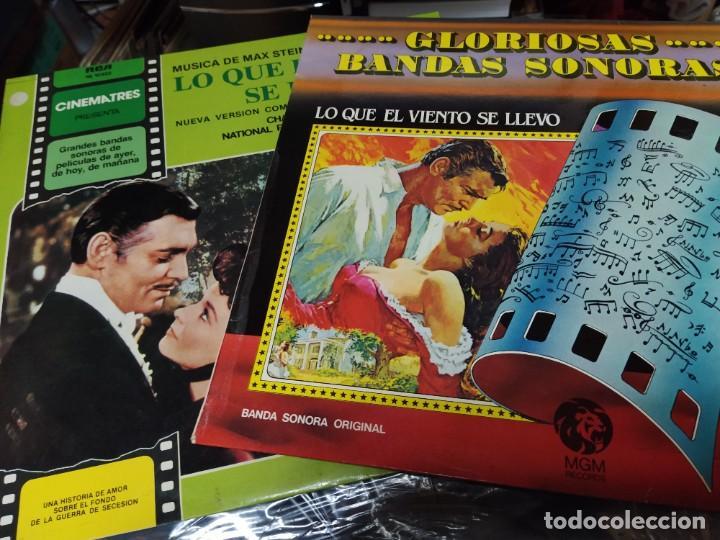 LO QUE EL VIENTO SE LLEVO 2 LPS ORIGINAL MAX STEINER Y CHARLES GEHAROT SPA (Música - Discos - LP Vinilo - Bandas Sonoras y Música de Actores )