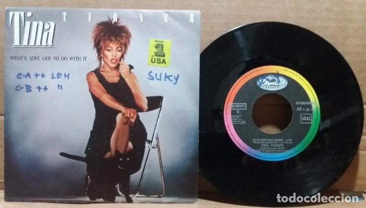 TINA TURNER / WHAT'S LOVE GOT TO DO WITH IT / SINGLE 7 INCH (Música - Discos de Vinilo - Singles - Pop - Rock Extranjero de los 80)