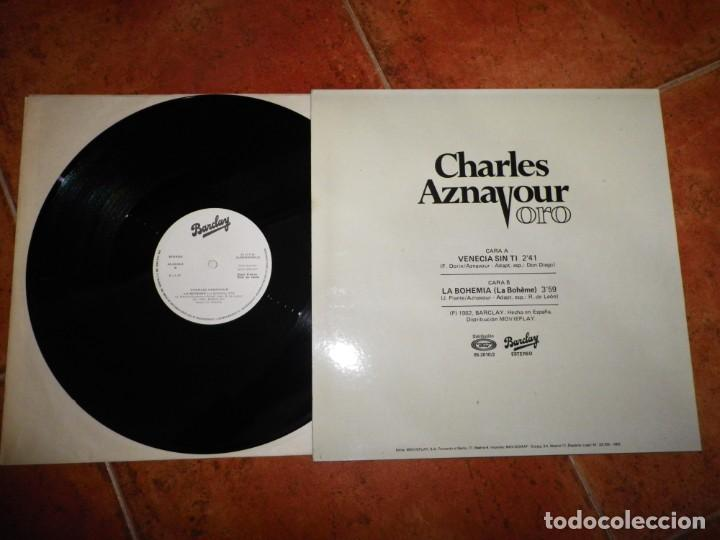 Discos de vinilo: CHARLES AZNAVOUR Venecia sin ti MAXI SINGLE VINILO PROMO AÑO 1982 ESPAÑA 2 TEMAS CANTADO EN ESPAÑOL - Foto 2 - 223750670