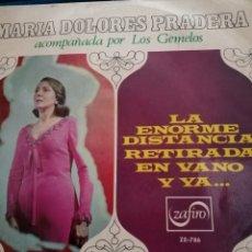 Discos de vinilo: MARIA DOLORES PRADERA ACOMPAÑADA CON LOS GEMELOS. Lote 223763738