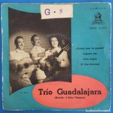 Discos de vinil: EP / TRIO GUADALAJARA / ¿QUIEN TOCA LA PUERTA? - LAGARTO SEA - LIRIO NEGRO - EL CHA-CHA-CUCA. Lote 223764323