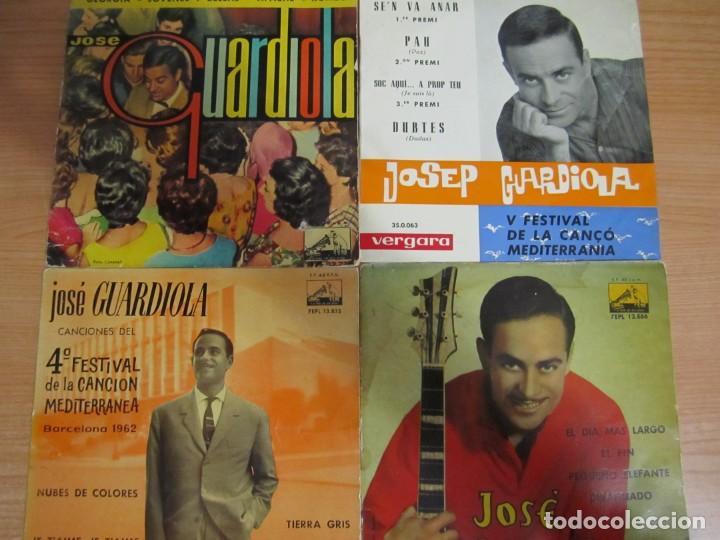 LOTE 4 DISCOS VINILO SINGLE JOSEP GUARDIOLA (Música - Discos - Singles Vinilo - Solistas Españoles de los 50 y 60)