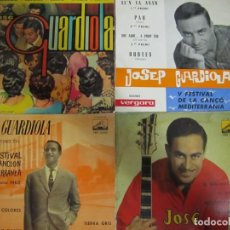 Discos de vinilo: LOTE 4 DISCOS VINILO SINGLE JOSEP GUARDIOLA. Lote 223771745